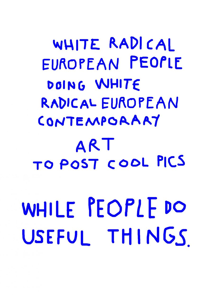 White radical Artists de Maria Alcaide